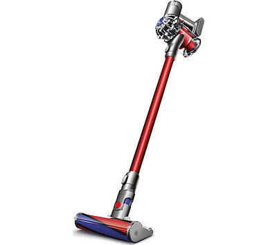 DYSON V6 Total Clean Cordless Stick Vacuum Cleaner Nickel & Red