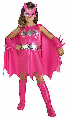Pink Batgirl Child Girls Fancy Dress Up Superhero Halloween Costume Party Outfit