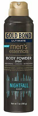 Gold Bond Ultimate Men 's Essentials, Body Powder Spray Nightfall 7 Oz Pack Of 6