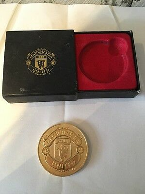 MANCHESTER UNITED BUSBY BABES 50th ANNIVERSARY MEDAL - C/W BOX FOOTBALL