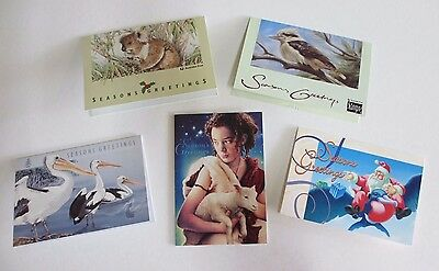 Five Australia Post Christmas Cards - Years 1992 -1996 Inclusive