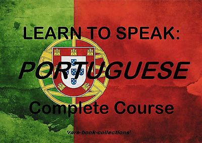 Learn To Speak Portuguese - Language Course - 39 Hrs Audio Mp3 & 5 Books On Dvd!