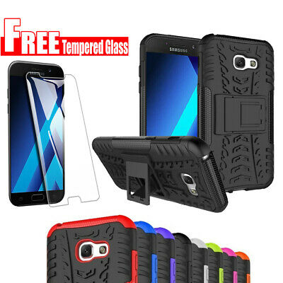 FREE Tempered Glass + Heavy Duty Rugged Case Cover For Samsung Galaxy A5 2017