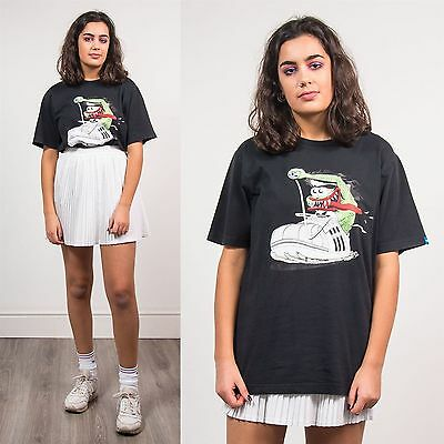 Adidas Womens Crew Neck T-Shirt Short Sleeve Retro Casual 90's Style Retro 8 10