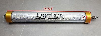 "LabClear Refillable Gas Filter RGF 125-400, 14 ¾""Long x 2"" Diameter"