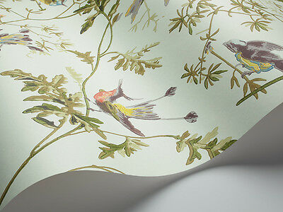 1 Roll Of John Lewis Cole & Son Hummingbirds Wallpaper 62/1004 Duck Egg