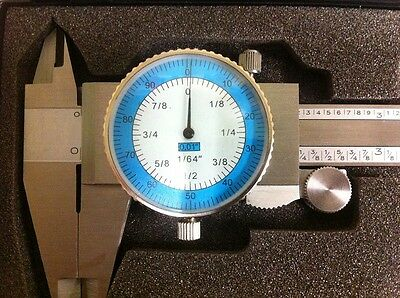 """Vernier Caliper 6"""" With 1/64"""" With Fractional Gauge"""
