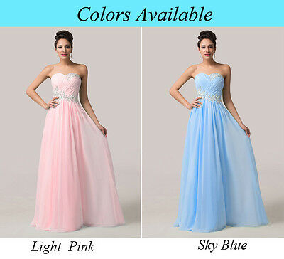 Special occasion new long Prom/Bridesmaid/Evening Formal Gown Ball Party Dress