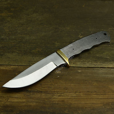 "9 5/8"" Full Tang Drop Point Hunter Stainless Steel Knife Making Blade Blank"
