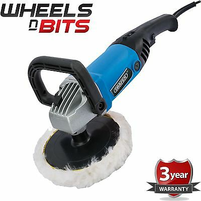 NEW Draper 53016 1200W 230V 180MM ANGLE BUFFER POLISHER 600 - 3000 rpm 3M Cable