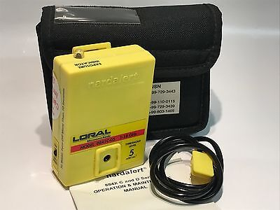 LORAL NARDALERT 8841C-05 PERSONAL MICROWAVE RADIATION ALERT & EAR PIECE   fbe3L