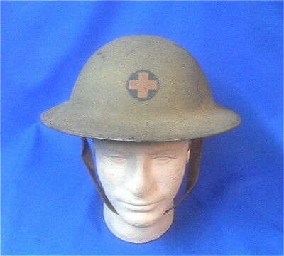 WW1 US Army 33rd Division Doughboys M-1917 Steel Trench Helmet with Insignia