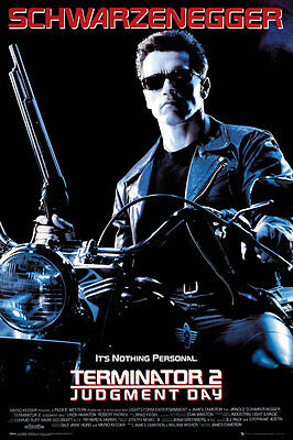 Terminator 2 Movie Poster - Terminator One sheet - It's Nothing Personal Poster