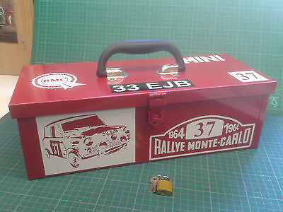 classic mini traditional  toolbox metal toolbox gr8 gift free p&p