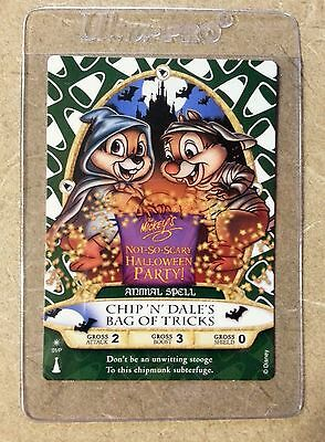 Disney Sorcerers Of The Magic Kingdom 2012 Chip 'N Dale Halloween Card # 01/P