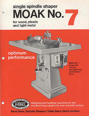 Moak Machine and Foundry Co. No. 7 Single Spindle Shaper Brochure