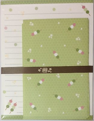 Letter Set Japanese Pattern Three colors Dumpling Paper Stationery Japan