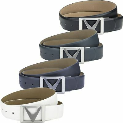 Callaway Mens Pu Leather Cut-To-Fit Signature Golf Chev Buckle Belt Ii