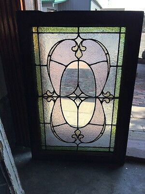 Sg 1172 Antique Stained Glass Window 20.75 X30 1/8""
