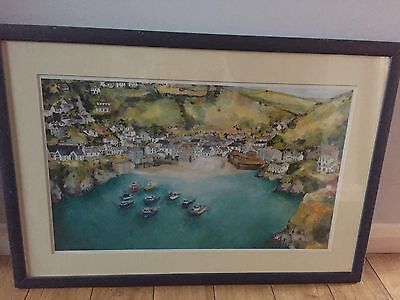 Limited Edition Framed Print Of Port Isaac By Katie Childs