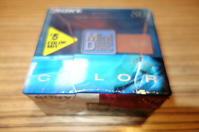 5 Sony Minidisc MD   80 Color  in OVP    . (291)