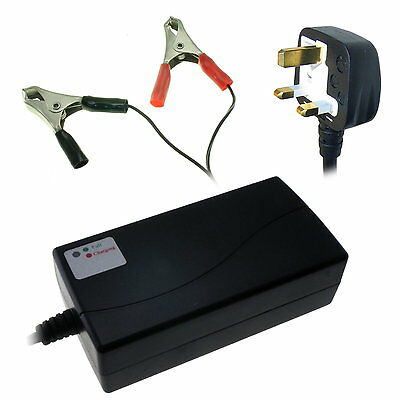 1800mA / 1.8A Automatic Smart Charger for 12V SLA Sealed Lead-Acid Batteries