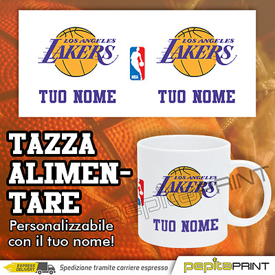 Tazza personalizzata NBA Los Angeles Lakers con *NOME*