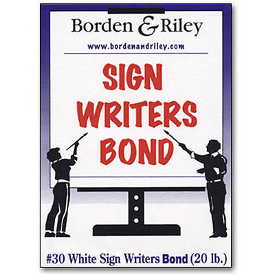 """Borden & Riley - #30 Sign Writers Poster Bond Roll - 15"""" x 25 yds. BR30WR152500"""