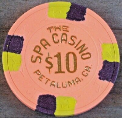 $10 Vintage Gaming Chip From The Spa Hotel &  Casino Petaluma Ca