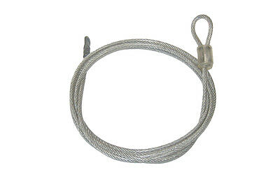 9 Vinyl Coated 3/16 Galvanized Steel Security Cables 6ft Long with Eyelet & Loop