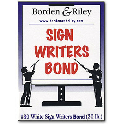 """Borden & Riley - #30 Sign Writers Poster Bond Roll - 18"""" x 50 yds. BR30WR185000"""