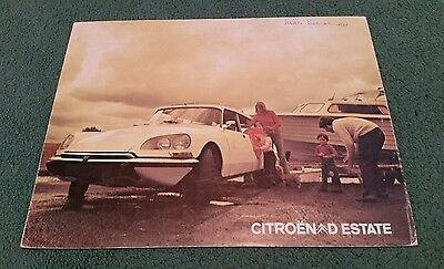 1972 / 1973 / 1974 Citroen Ds D 23 Estate Safari - Uk Folder Brochure