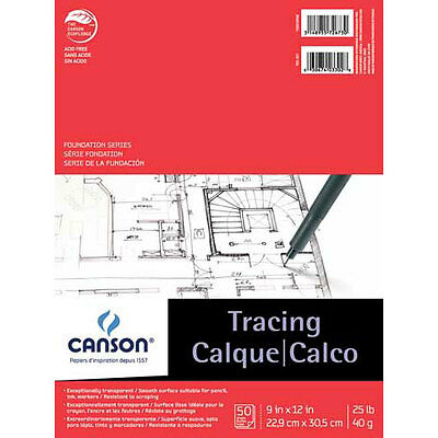 """Canson - Foundation Series Tracing Pad - 19"""" x 24"""" CN100510963"""