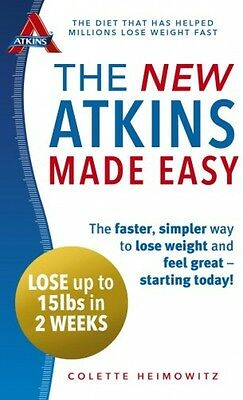 NEW Atkins Diet Made Easy Lose Weight Loss Recipe Cookbook Paperback Book Carbs
