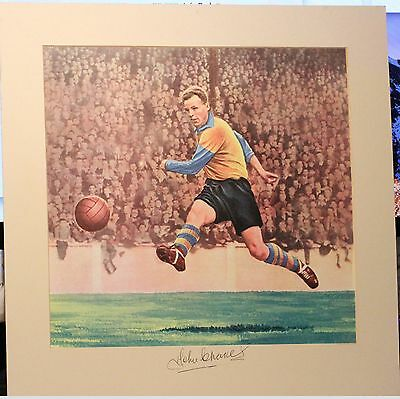 John Charles, Leeds United & Wales......signed & Mounted Colour Print1956