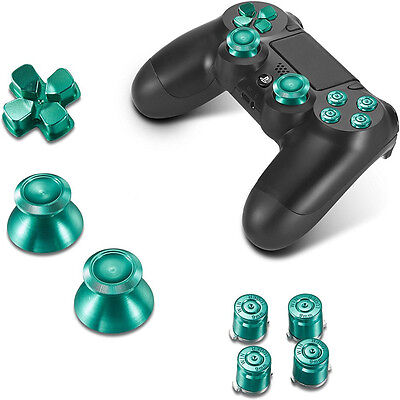 Sony PS4 Playstation 4 Controller Button Set Aluminium - Green