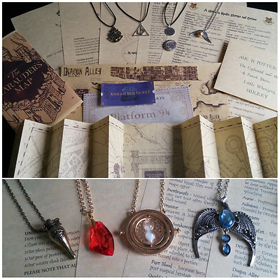 Personalised Harry Potter Hogwarts Acceptance Letter Marauders Map Necklace