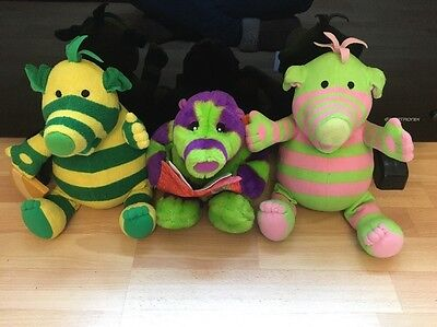 Fimbles Interactive Toys X3, Story Time Roly Mo, Baby Pom & Dumbo, All Vgc