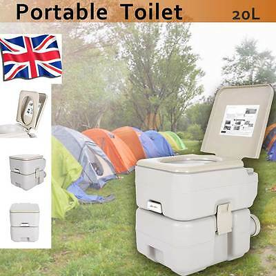 20L Portable Camping Toilet Loo Caravan Flush Travel Outdoor Potty Commode