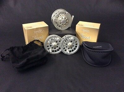 Hardy Angel MKI #7/8 Fly Reel with x2 Spare Spools - Made in England