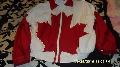 Canadian Flag  Jacket U.s.a. (Rare) Xl Maple Leaf Designer Limited Edition