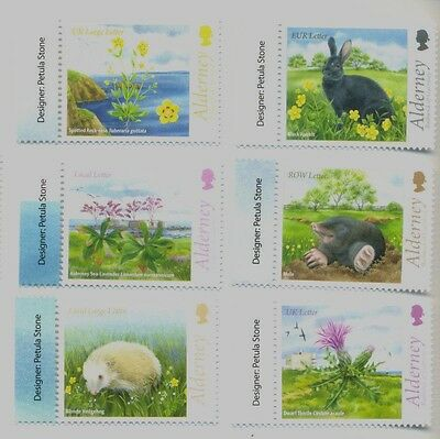 Alderney-Fauna and Flora set mnh 2015-Birds-insects