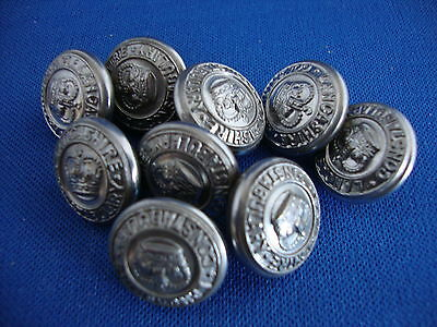 Lancashire Constabulary Tunic Buttons White Metal