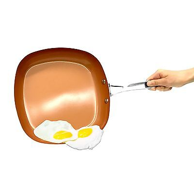 "As Seen on TV Gotham Steel 2"" Deep Square Copper Frying Pan- BRAND NEW!"