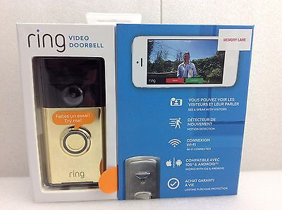 Ring Video Doorbell (Polished Brass)