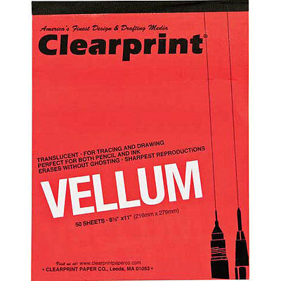"""Clearprint - Design and Sketch Pad - Unprinted - 12"""" x 18"""" CP10001418"""