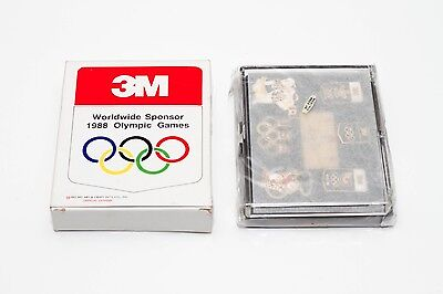 Vintage 3M Limited Edition Collectible Pin Set 1988 Olympics Korea Summer Flair