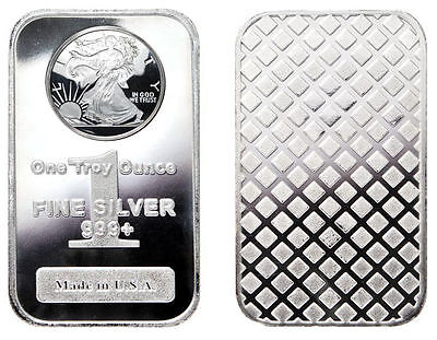 1 oz. 999 Fine Silver Bar- Walking Liberty Design - Sealed in Vinyl 1 Troy Ounce