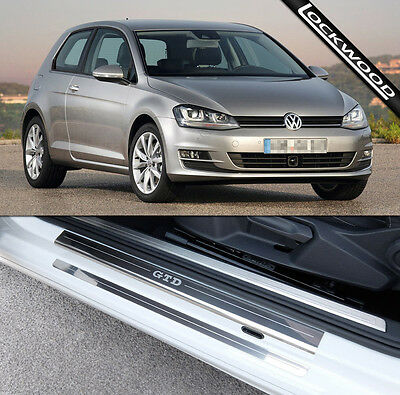 VW Golf Mk7 GTD (Released 2013) 2 Door Sill Protectors / Kick plates