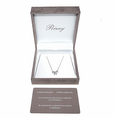 POIRAY - COLLIER NOEUD EN OR BLANC ET DIAMANT / necklace white gold and diamond